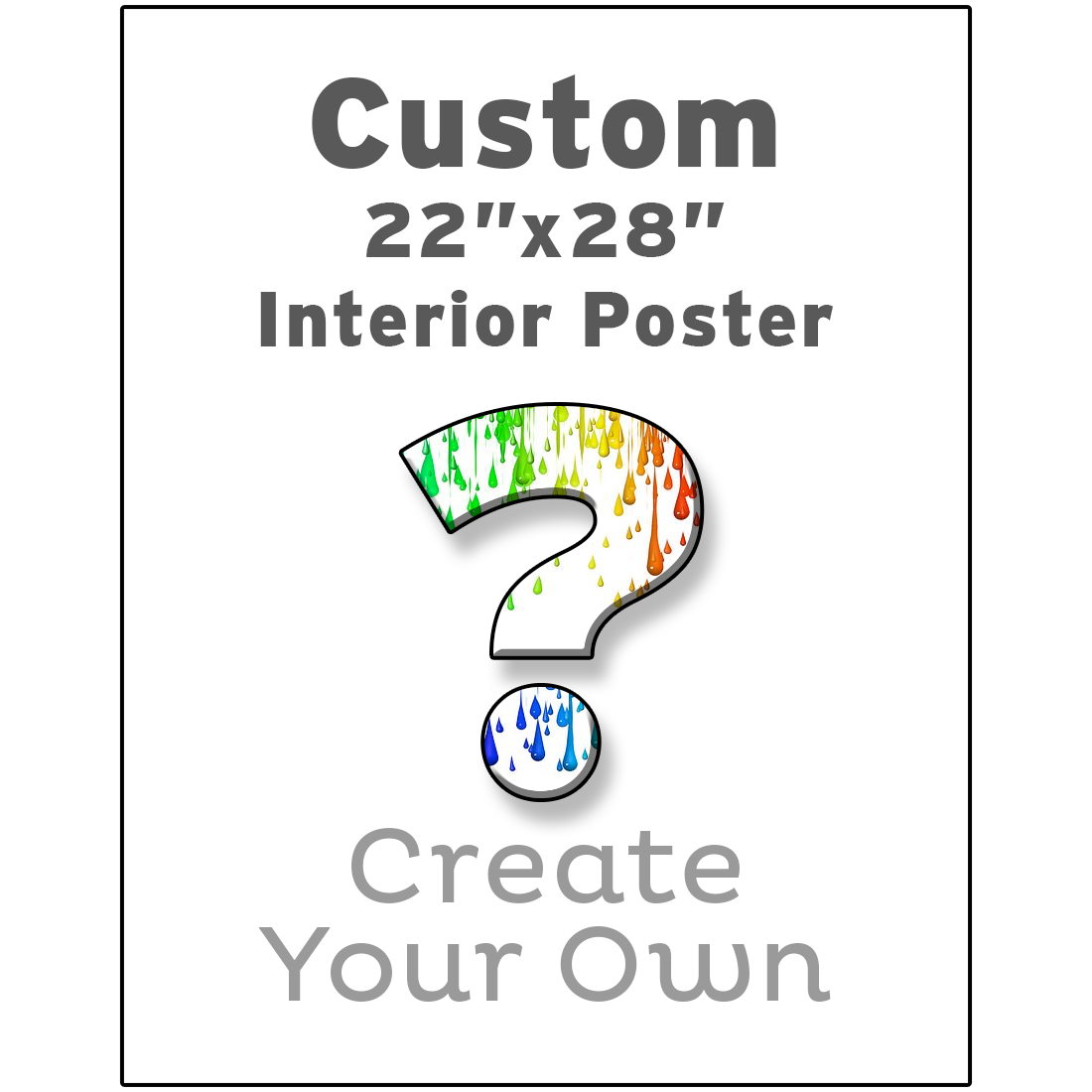 Create your own custom interior poster for Design your own interior